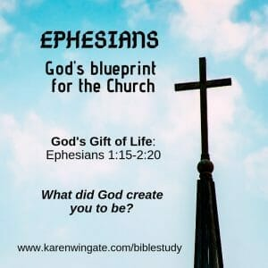 Ephesians Bible Study Session Two - What has God created you to be?