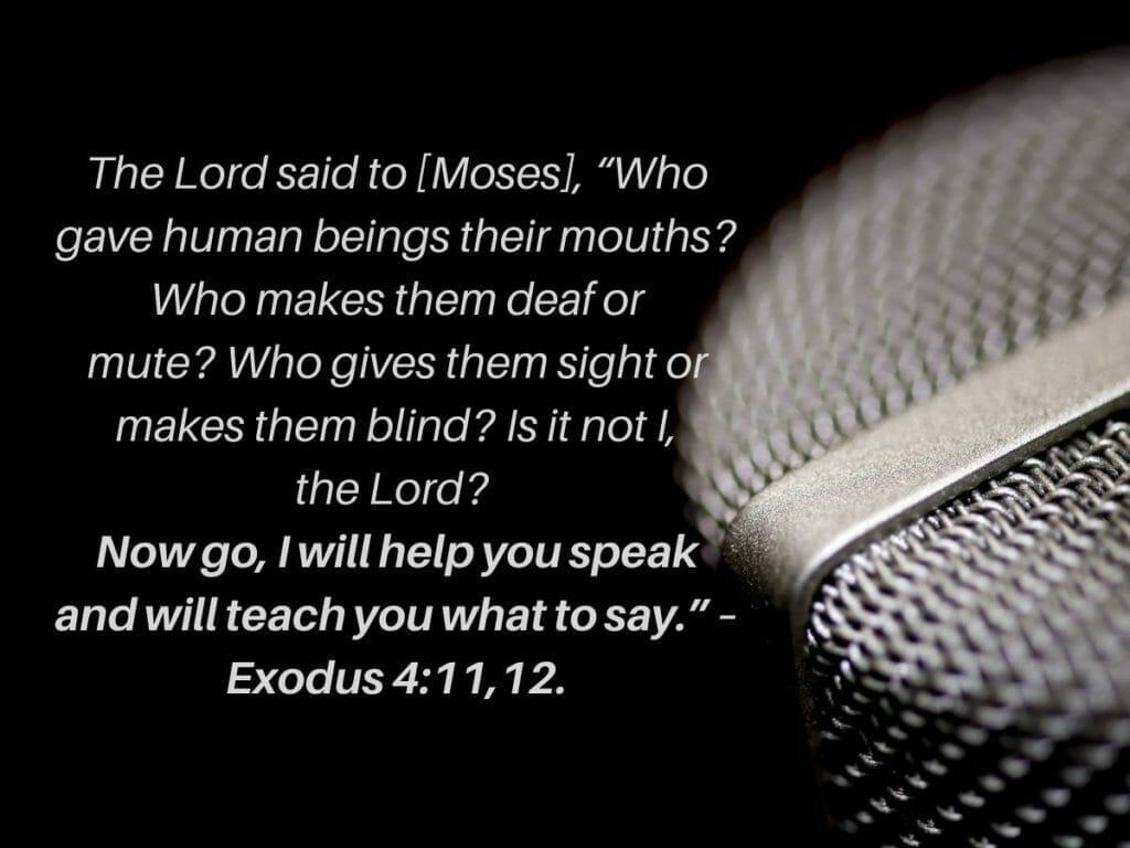 Exodus 4:11,12
