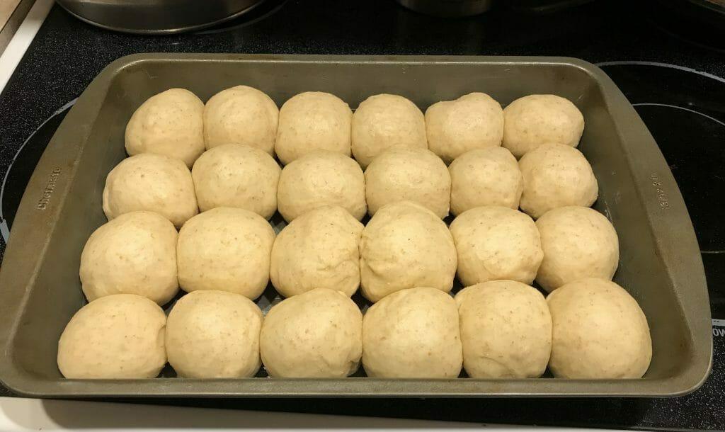 On the rise - rising lite wheat dinner rolls