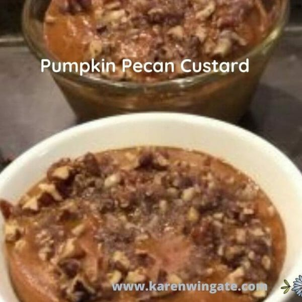 Pumpkin Pecan Custard