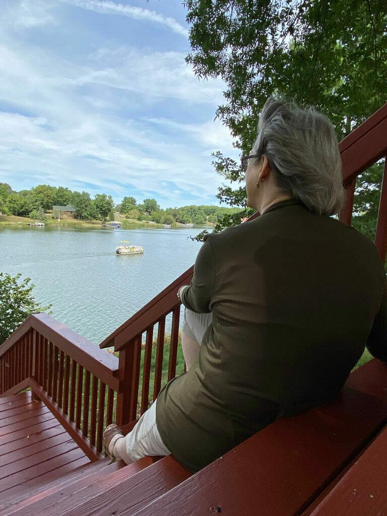 Karen Wingate at the Lake