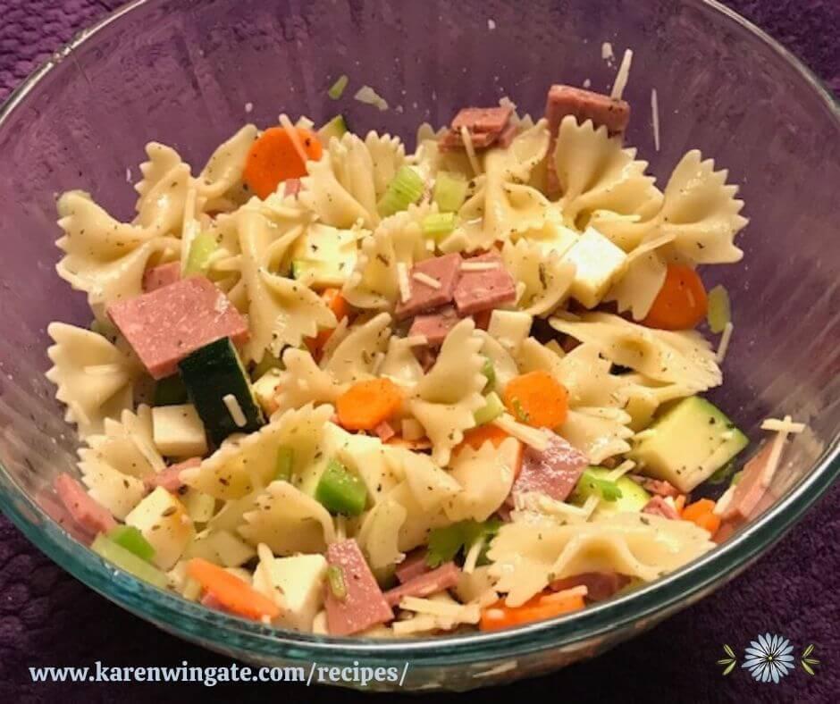Italian Pasta Salad www.karenwingate.com/recipes/
